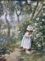 Little girl in the garden, 60 x 50, Canvas, oil, 2009
