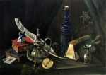 STILL-LIFE WITH A BLUE MILL
