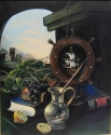 STILL-LIFE WITH A STEERING WHEEL